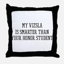 Smart My Vizsla Throw Pillow