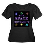 The Space Movement Women's Plus Size Scoop Neck Da