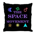 The Space Movement Throw Pillow