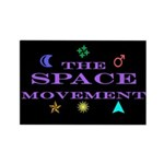 The Space Movement Rectangle Magnet (100 pack)