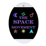 The Space Movement Oval Ornament