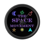 The Space Movement Large Wall Clock