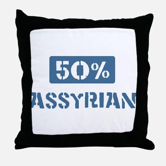 50 Percent Assyrian Throw Pillow