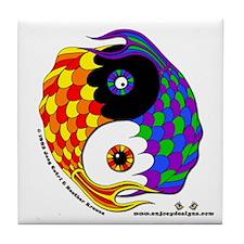 Yin Yang Fish - Tile Coaster