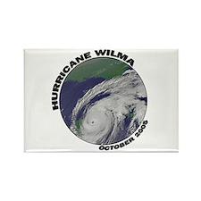 Satellite Hurricane Wilma Rectangle Magnet