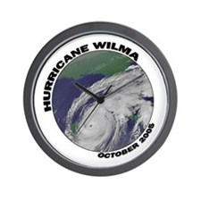Satellite Hurricane Wilma Wall Clock