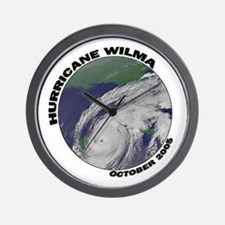 Satellite Hurricane Wilma Wall Clock