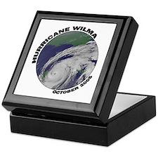 Satellite Hurricane Wilma Keepsake Box