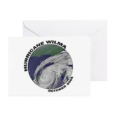 Satellite Hurricane Wilma Greeting Cards (Package