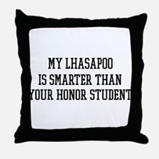 Smart My Lhasapoo Throw Pillow