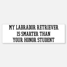 Smart My Labrador Retriever Bumper Bumper Bumper Sticker