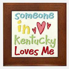 Someone in Kentucky Loves Me Framed Tile