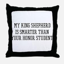 Smart My King Shepherd Throw Pillow