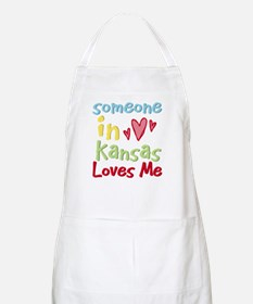 Someone in Kansas Loves Me BBQ Apron