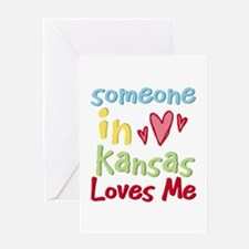 Someone in Kansas Loves Me Greeting Card