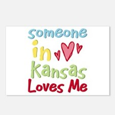 Someone in Kansas Loves Me Postcards (Package of 8