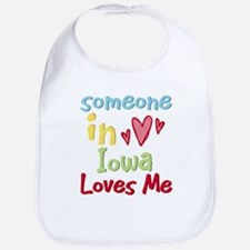 Someone in Iowa Loves Me Bib