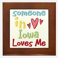 Someone in Iowa Loves Me Framed Tile