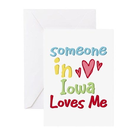 Someone in Iowa Loves Me Greeting Cards (Pk of 10)