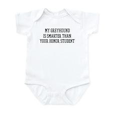 Smart My Greyhound Infant Bodysuit
