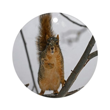 Standing Squirrel Ornament (Round)