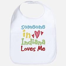 Someone in Indiana Loves Me Bib