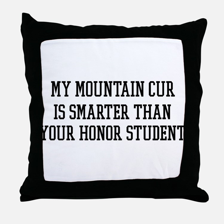 Smart My Mountain Cur Throw Pillow