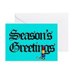 Lipstick Tubes Greeting Cards (Package of