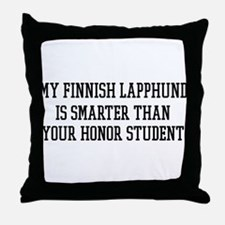 Smart My Finnish Lapphund Throw Pillow