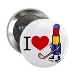 I heart Lipstick Tubes Button
