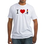 I heart Lipstick Tubes Fitted T-Shirt