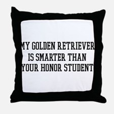 Smart My Golden Retriever Throw Pillow