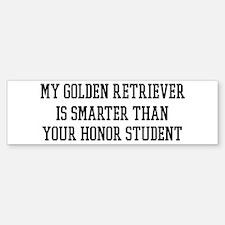 Smart My Golden Retriever Bumper Bumper Bumper Sticker