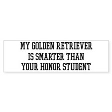 Smart My Golden Retriever Bumper Bumper Sticker