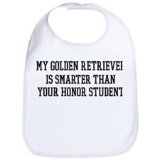 Smart My Golden Retriever Bib