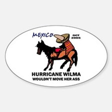 Slow Ass Hurricane Oval Decal