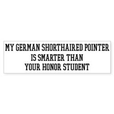 Smart My German Shorthaired P Bumper Bumper Sticker