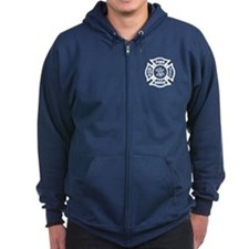 Fire Rescue Zipped Hoodie
