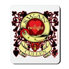 Swan Cullen Crest Twilight Mousepad