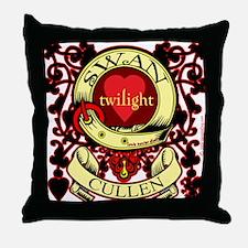 Swan Cullen Crest Twilight Throw Pillow