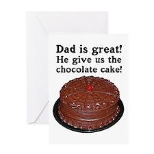 CHOCOLATE CAKE Greeting Card
