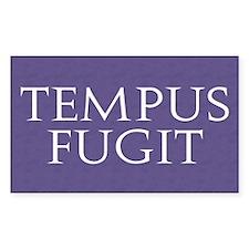 Tempus Fugit Rectangle Decal