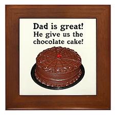 CHOCOLATE CAKE Framed Tile