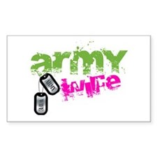 ARMY WIFE Rectangle Decal