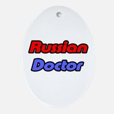 """Russian Doctor"" Oval Ornament"