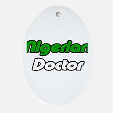 """Nigerian Doctor"" Oval Ornament"