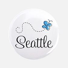 """Pretty Seattle 3.5"""" Button"""