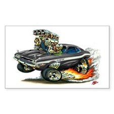 Dodge Challenger Black Car Rectangle Decal