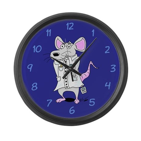 Lab Rat Scientist Large Wall Clock
