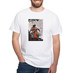 Japanese Samurai Warrior Masanao White T-Shirt